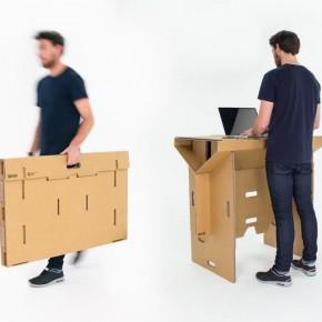 材料:便携、灵活、可折叠的纸板桌子