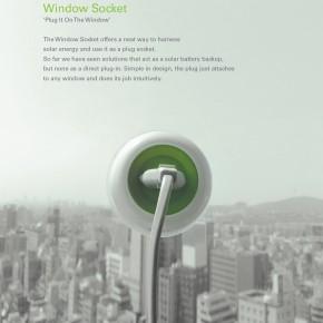 Kyuho Song和Boa Oh设计的太阳能窗口插座