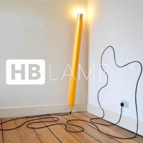 充满童趣的HB铅笔灯