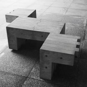 """组合式""""L""""型公共座椅"""