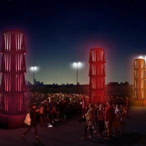 米兰世博会上的Equiseto雕塑灯