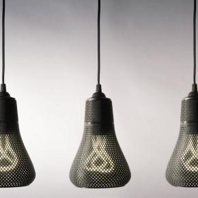 为Plumen灯泡量身定做的3D打印灯罩
