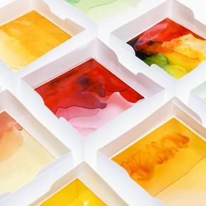用小熊糖做的漂亮光影盒子