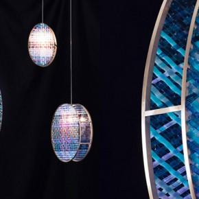 玻璃编织的精美灯具