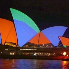 悉尼歌剧院上演流光飞舞