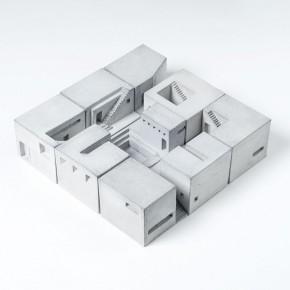 """迷你混凝土建筑组成的微缩""""空间"""""""