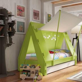 有了这张床,在家也像是野营