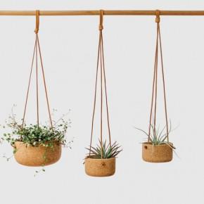 软木+皮绳,就是环保又可爱的小花盆