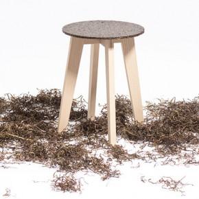 """""""垃圾""""海藻制成的环保凳子"""