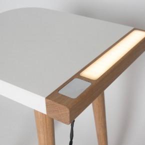 这件边桌里还藏着一个灯