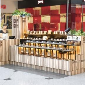 Kongoh临时商店–从食品陈列到食品包装的整套设计