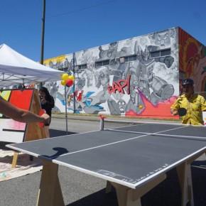 穿梭于温哥华各个社区的乒乓球桌