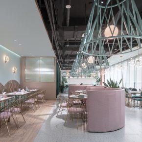 用这两种颜色打造的女性餐厅,你买账吗?