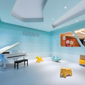 宣驰设计丨多艺教育儿童艺术教学空间