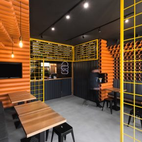 这家只有40平米的餐厅竟然用了300根PVC管装修