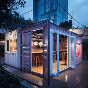 集装箱改造的啤酒吧,在东京尝尝正宗德国味道!