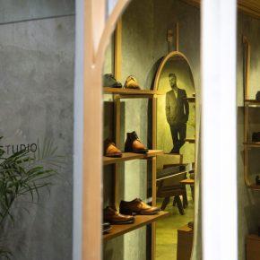 """混凝土、黄铜、柚木,献给绅士们的""""精英""""鞋店!"""