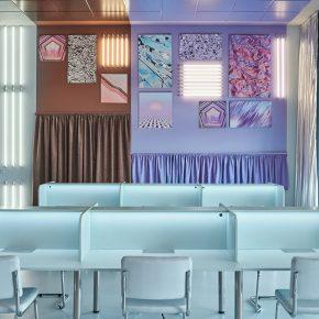 西班牙创意事务所,用色彩为办公空间注入新活力