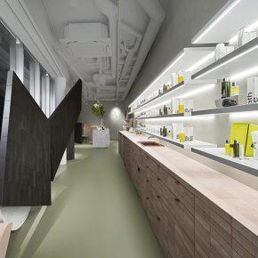 日本知名设计事务所用可回收材料打造了一家护肤品店