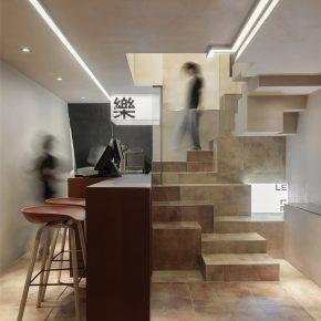 毛伟伟设计作品丨乐乐鸡炸鸡店-消解方块形成的空间