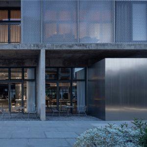 艾舍尔设计 | 清水混凝土建筑里的咖啡店,上海