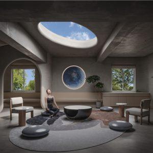 """哲本设计   """"平静的精神空间""""——瑜舍瑜伽馆"""